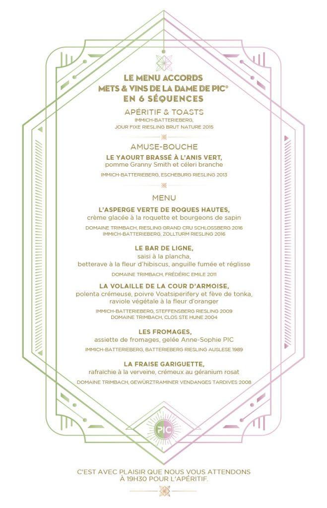 menu etoiles du vin